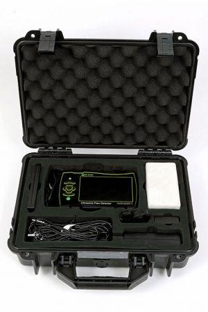Avenger II handheld flaw detector, complete kit with transport case.